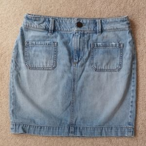 soft jeans mini skirt